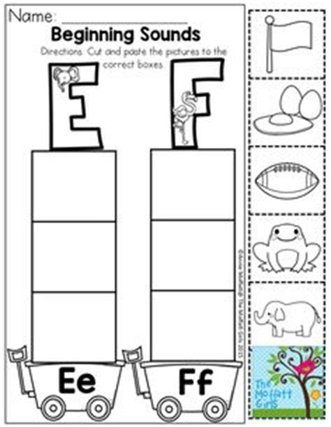 Beginning Sounds Cut And Paste Worksheets by Cut And Paste Activities And Beginning Sounds On