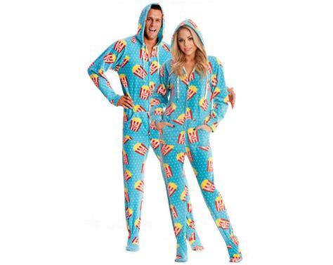 onesie pajamas popcorn printed footed onesie pajamas pajama nights