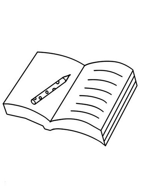 A Pen On An Open Book Coloring Page Coloring Sun Open Book Coloring Page