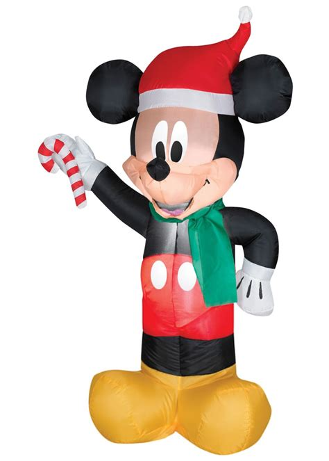 mickey mouse santa hat with lights mickey mouse christmas airblown inflatable decorations