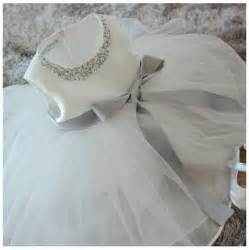 Girls christening gowns pearl font b vestido b font font b batizado