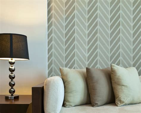 zigzag wallpaper for walls large zig zag herringbone wallpaper pattern wall stencil