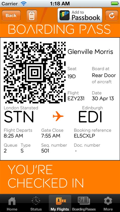 easyjet mobile boarding pass easyjet adds support for passbook boarding passes