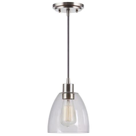Kenroy Home Lighting Edis Brushed Steel Mini Pendant Light Brushed Steel Pendant Light