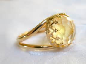Citrine ring gemstone ring gold ring vintage by eldortinajewelry