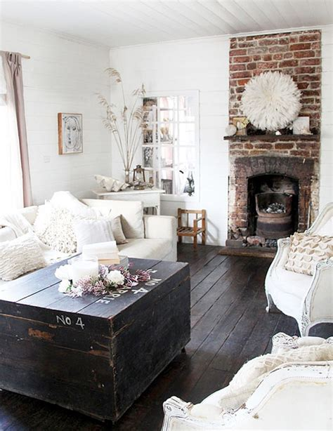 Living Room With White Brick Fireplace 69 Cool Interiors With Exposed Brick Walls Digsdigs