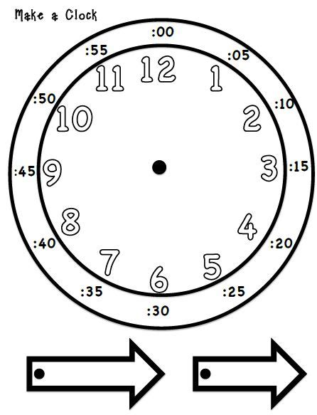 make your own clock template printable student clock calendar template 2016