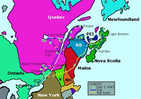 map of usa and canada east coast text