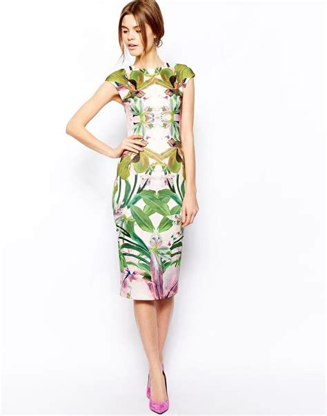 Safiya Dress ted baker ted baker safiya midi dress in jungle orchid