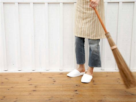 Sweep Floor by Easy Cheap And Green Cleaning Tips For Floors Hgtv