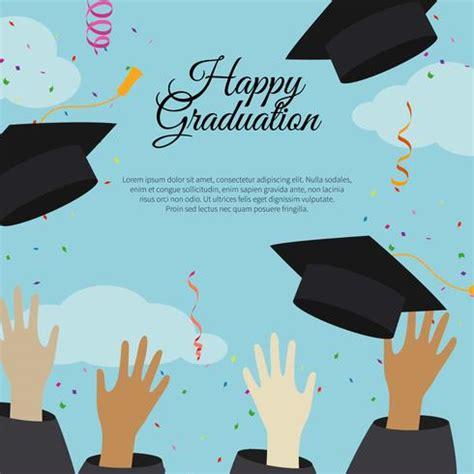 happy graduation card template happy graduation card template free vector