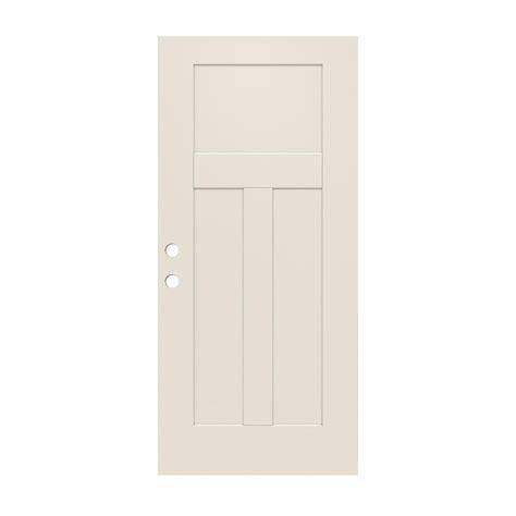 32 X 79 Exterior Door Jeld Wen 32 In X 79 In 3 Panel Craftsman Primed Steel Front Door Slab Thdjw166100391 The