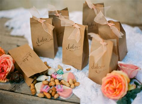 sachets kraft pour decoration de mariage rustique