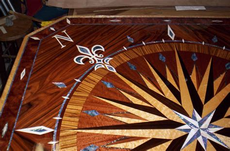 Kitchen Island Images Photos Compass Rose Boat Yacht Tables Medallions