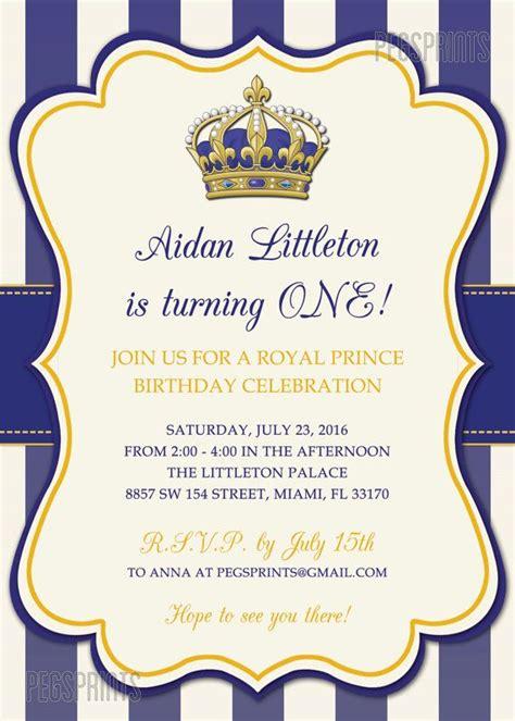 king birthday card template royal prince birthday invitation printable prince