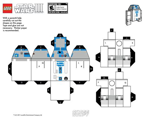 Papercraft Figures - r2 d2 wars papercraft