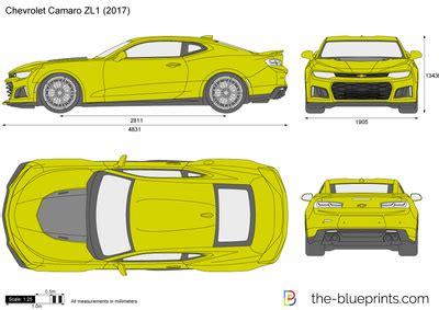 the blueprints vector drawing chevrolet camaro zl1