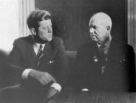 john f kennedy biography cuban missile crisis a rare picture of john f kennedy and nikita khrushchev of