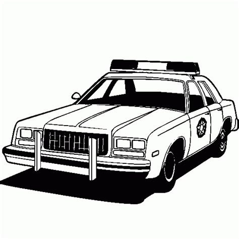 police police cars coloring pages