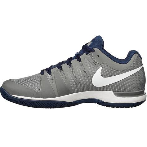 nike zoom vapor 9 5 tour s tennis shoe grey navy white