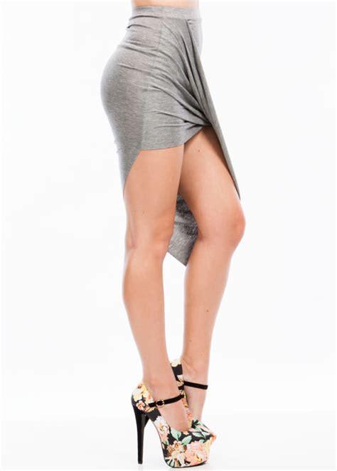 drape up asymmetrical skirt drape up asymmetrical skirt black charcoal slate citron