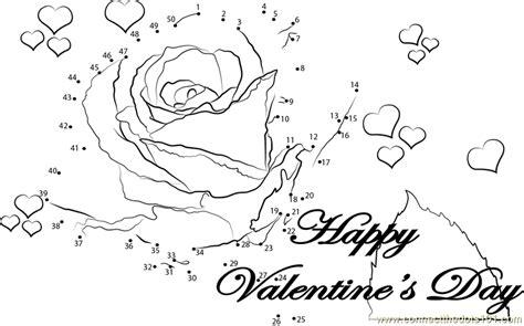 printable valentine dot to dot romantic valentine with rose dot to dot printable