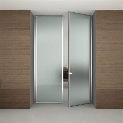 Modern Bathroom Doors Frosted Glass Interior Doors For Modern Bathroom Design With Wood Laminate Wall Covering