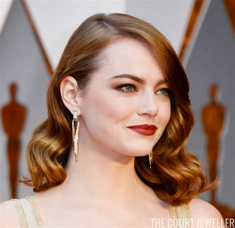 emma stone earnings hollywood royalty earrings of the 2017 oscars the court