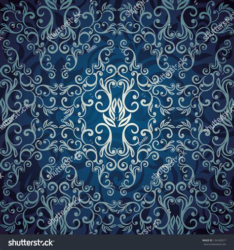 wallpaper elegant design seamless abstract floral wallpaper blue elegant stock