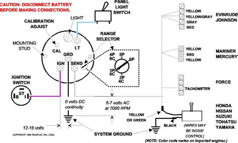 12v wiring diagram for tach teleflex tach wiring free wiring diagrams schematics
