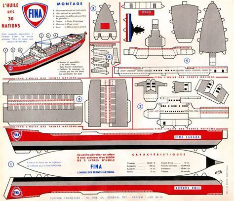 Boat Paper Craft - schiff tanker moi bateaus ships and boats