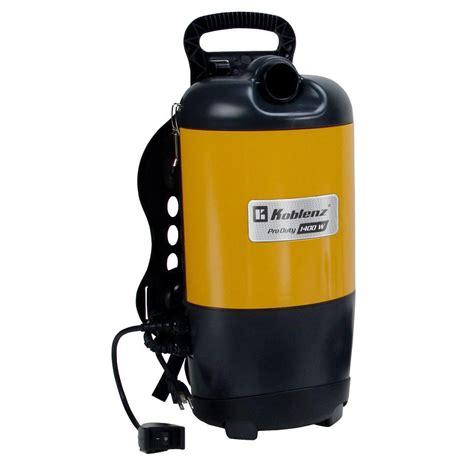 koblenz pro duty backpack vacuum cleaner 0011866 the home depot