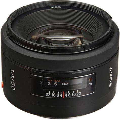 Sony Lens Sal 50mm F1 8 A Mount sony 50mm f 1 4 alpha a mount standard prime lens sal50f14 b h