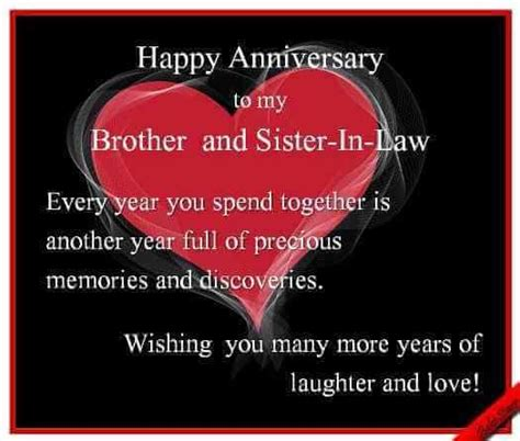 wedding anniversary wishes  brother  sister