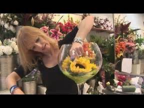 Tall Vase Wedding Centerpieces How To Arrange Sunflowers In A Wine Glass Youtube