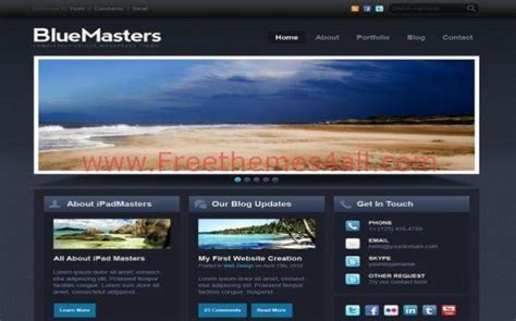 drupal theme add js dark blue drupal theme template free download