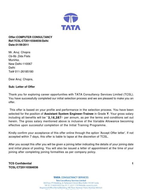 appointment letter vs contract birth certificate affidavit format for tcs images