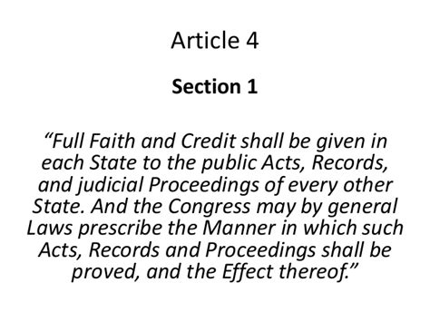 constitution article 4 section 1 federal state relationship