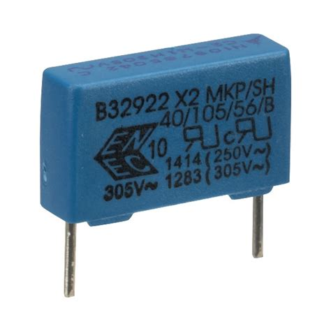 epcos capacitor code epcos b32922c3104m tdk 100nf 177 20 305v ac x2 radial emi suppression capacitor rapid