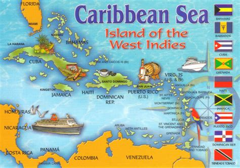 caribbean sea map caribbean sea map postcard a photo on flickriver
