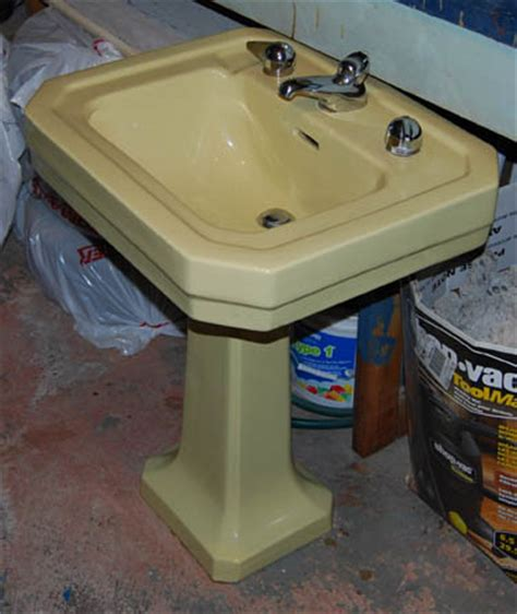 yellow bathroom sinks yellow pedestal sink befon for