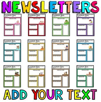 free monthly newsletter templates for teachers newsletter templates editable newsletters by
