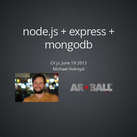simple node js express server node js express mongodb by michael holroyd