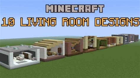 10 minecraft living room designs