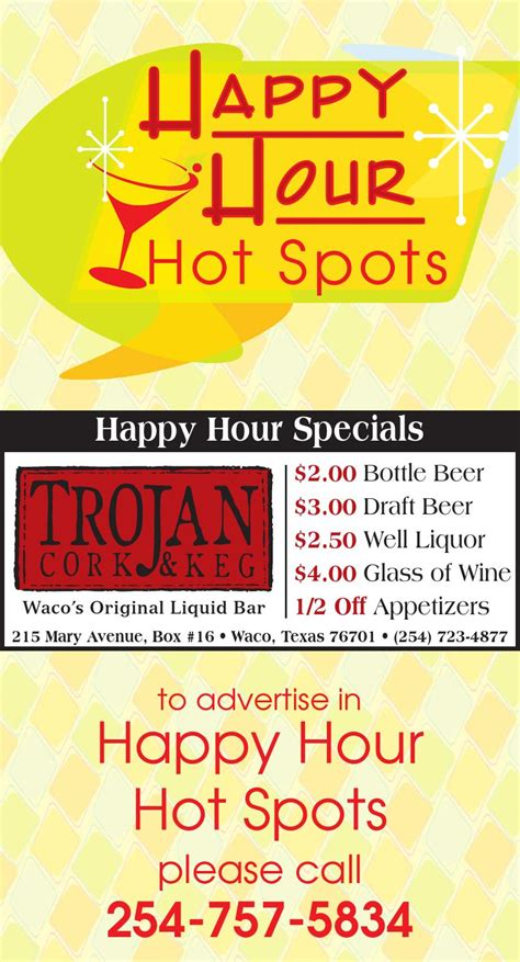 Backyard Pb Happy Hour Happy Hour Spots 2015 By Wacotrib Issuu