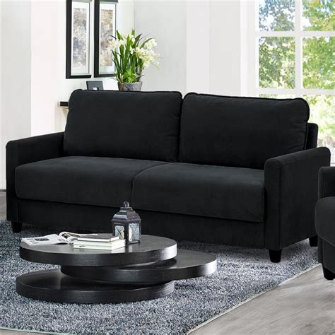 lifestyle solutions rasaun sofa in black lk scrs3xm3001 w