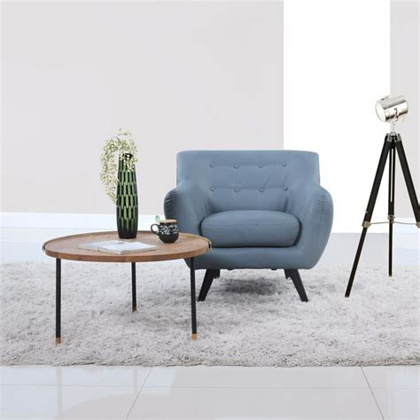 modern accent chairs mid century modern grey bonded leather tufted button