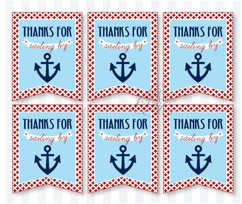 Nautical Baby Shower Favor Tags by 17 Best Images About Samuel S Baby Shower On