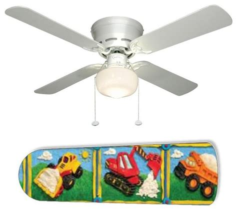 Construction Of Ceiling Fan by Boys Construction Trucks 42 Quot Ceiling Fan And L