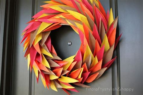 Thanksgiving Crafts With Construction Paper - 9 thanksgiving wreaths that will put your home the top